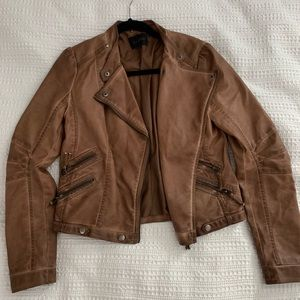 Blu Pepper Women's Camel Leather Jacket